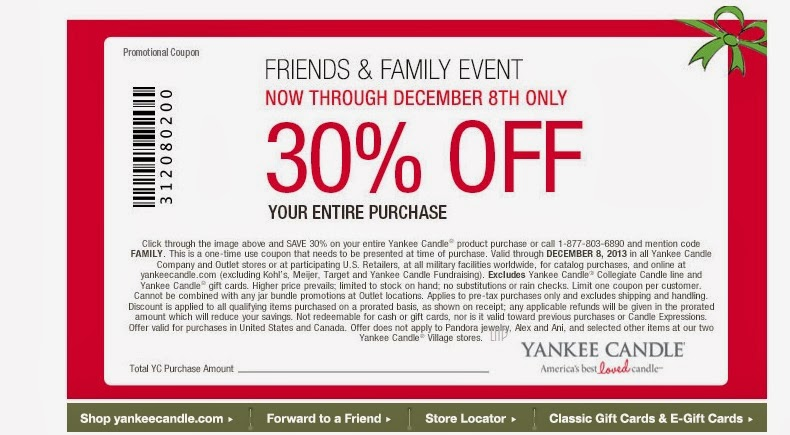 photograph regarding Printable Yankee Candle Coupons called Yankee candle printable coupon codes november 2018 10 off 25