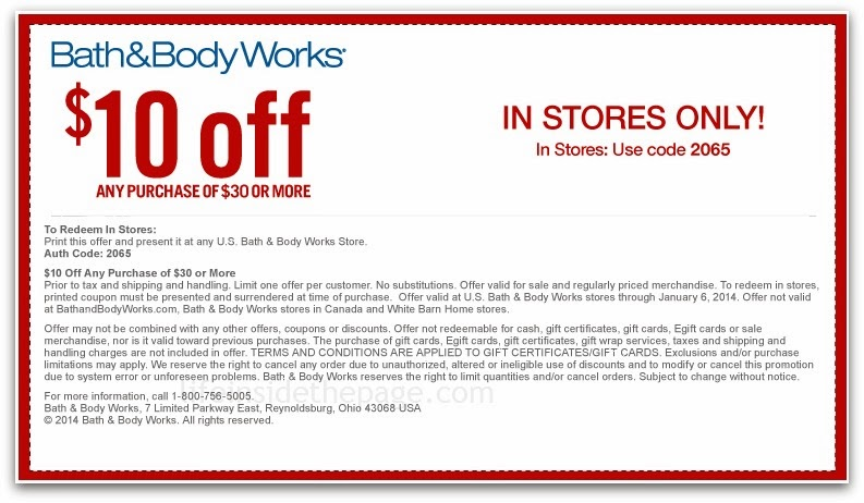 2014 Store Body Feb Coupons Works And Bath